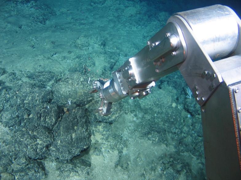 prospeção mineral no fundo do mar.