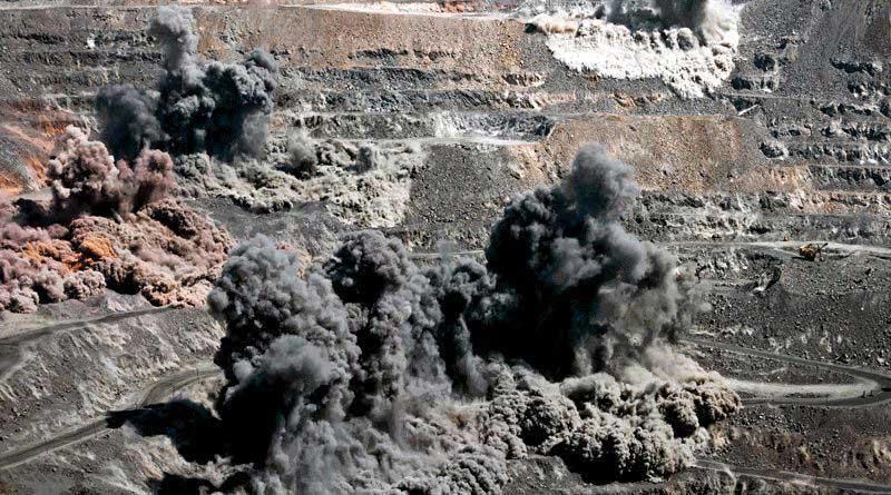 Desmonte de Rochas com Explosivos