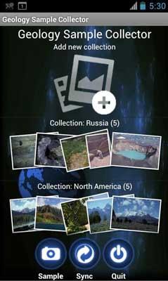 Aplicativos para mineração - Geology Sample Collector