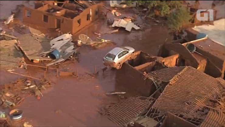 causas do rompimento da barragem de rejeito em Mariana