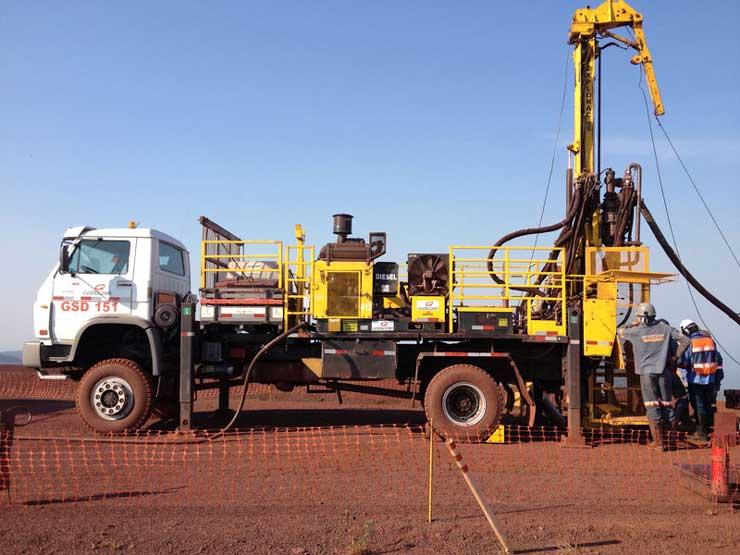 Sondagem na mineração - Geosedna