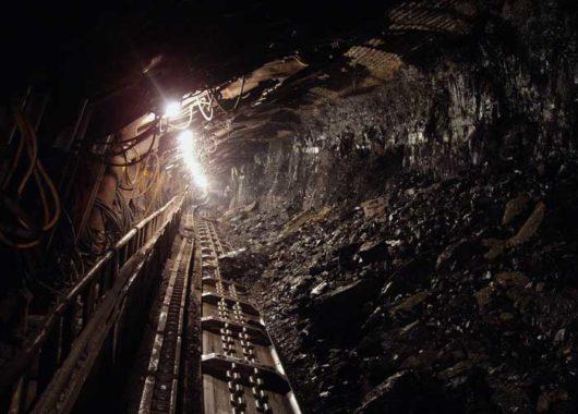 ventilação de mina subterrânea